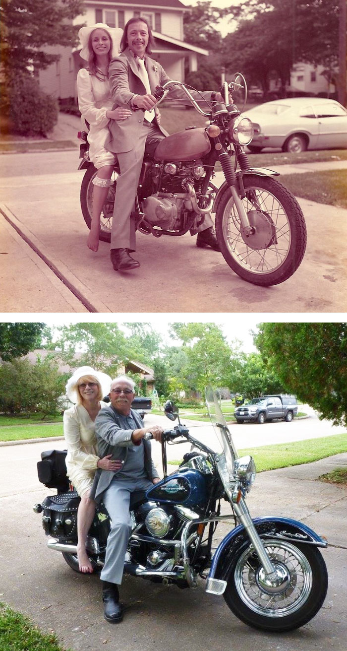 couples recreating old pictures 7