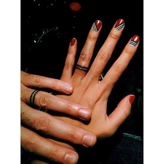couples wedding ring tattoos 1