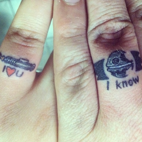 couples wedding ring tattoos 10