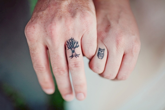 couples wedding ring tattoos 11
