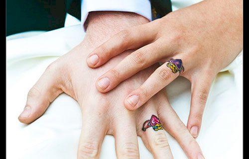 couples wedding ring tattoos 14