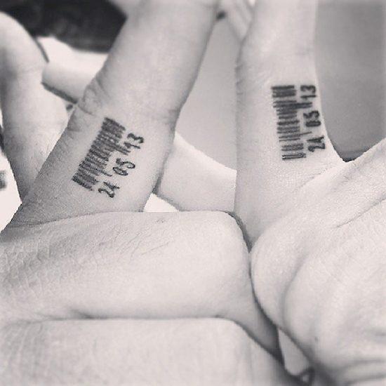 couples wedding ring tattoos 4