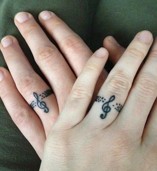 couples wedding ring tattoos 8