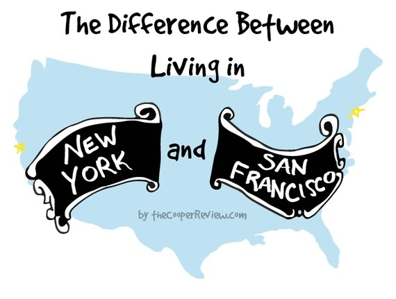 difference between san francisco and nyc 1
