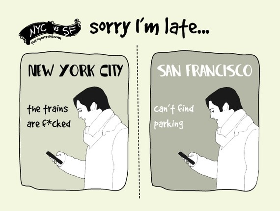 difference between san francisco and nyc 7