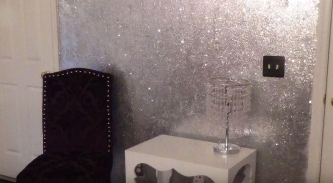 diy glitter wall 4