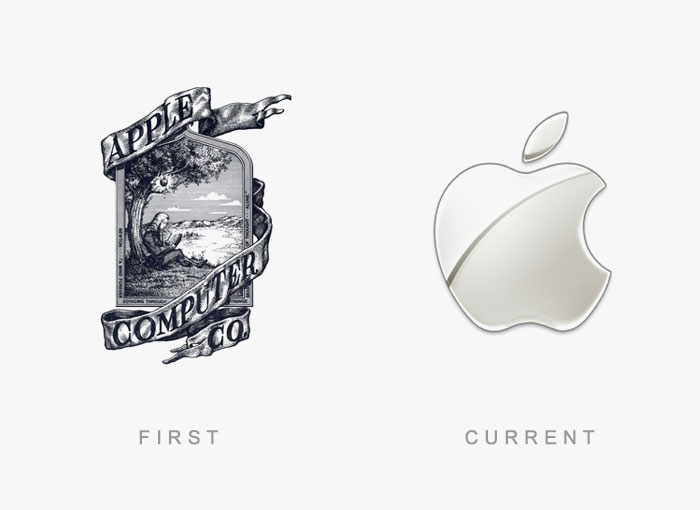 famous logos changed over time 1