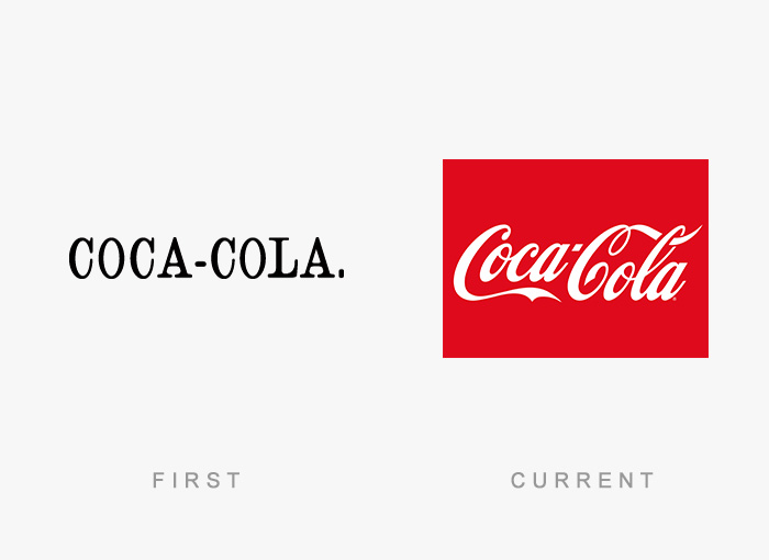 famous logos changed over time 12