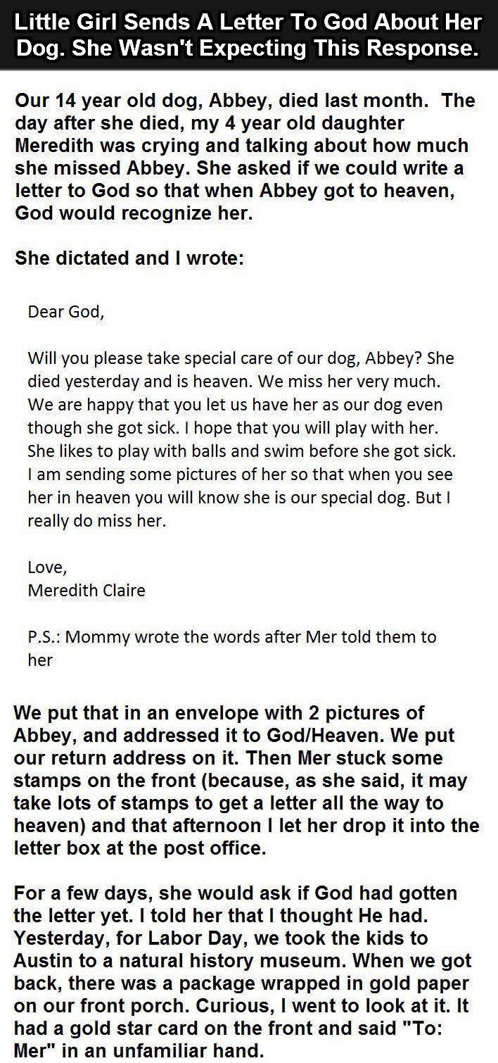 little girl's letter to God 1