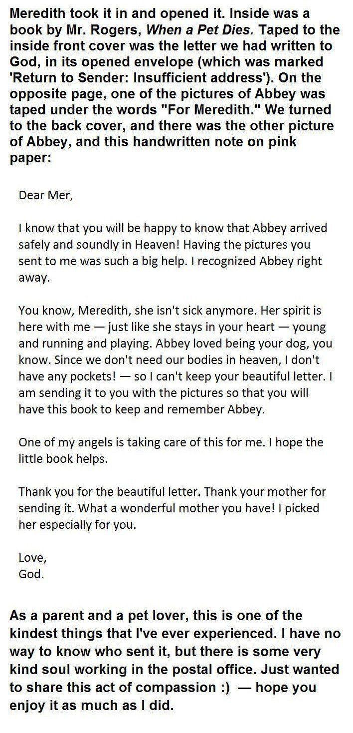 little girl's letter to God 2