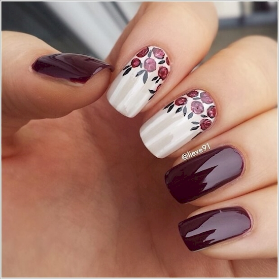 purple nail polish ideas 1