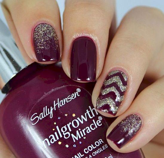 purple nail polish ideas 11