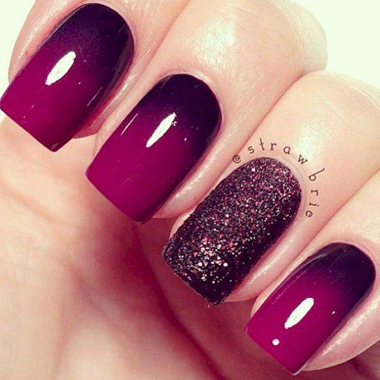 purple nail polish ideas 7