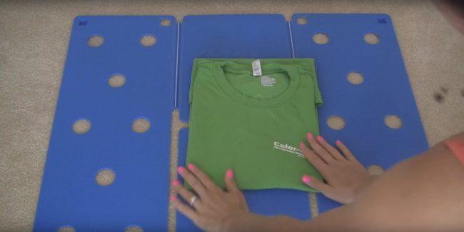 shirt folding technique 7