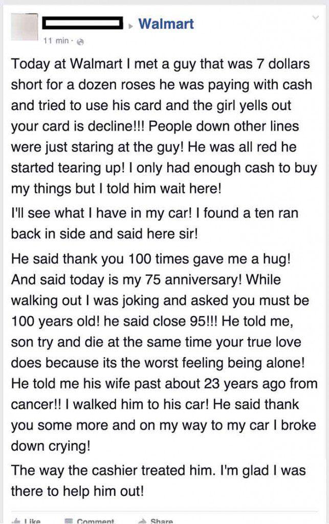 stranger help man buy roses 1