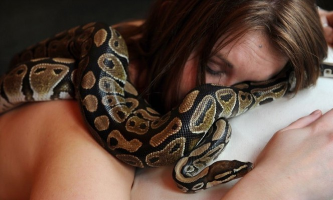 woman sleeps with snake 6
