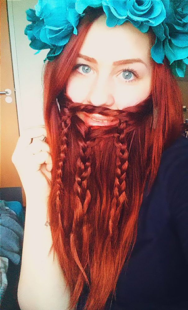 women beards hair design 1