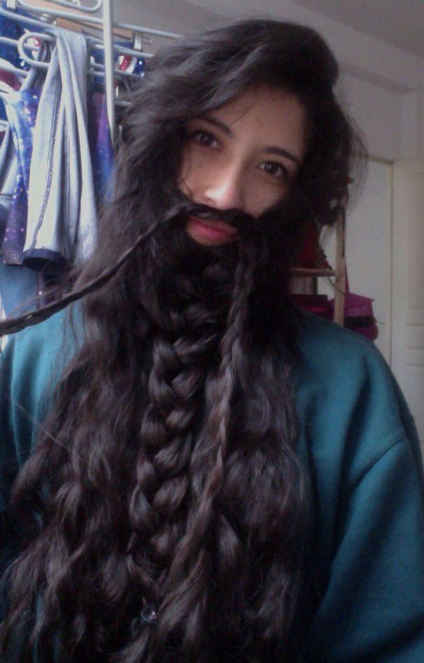 women beards hair design 12
