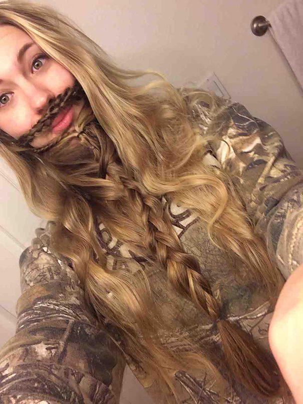 women beards hair design 14