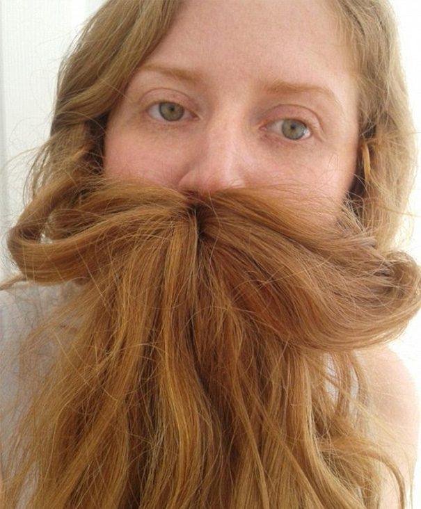 women beards hair design 15