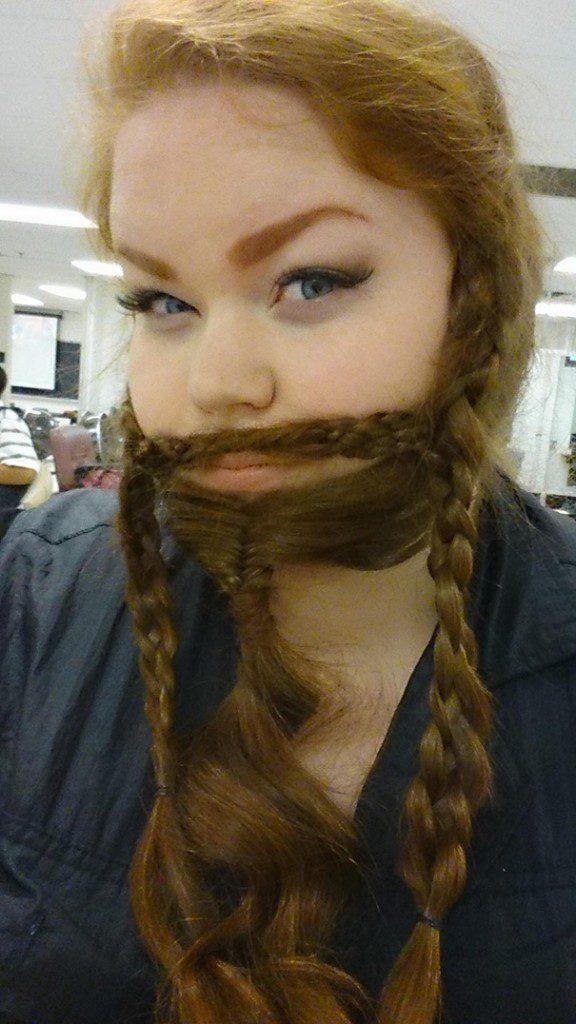women beards hair design 17