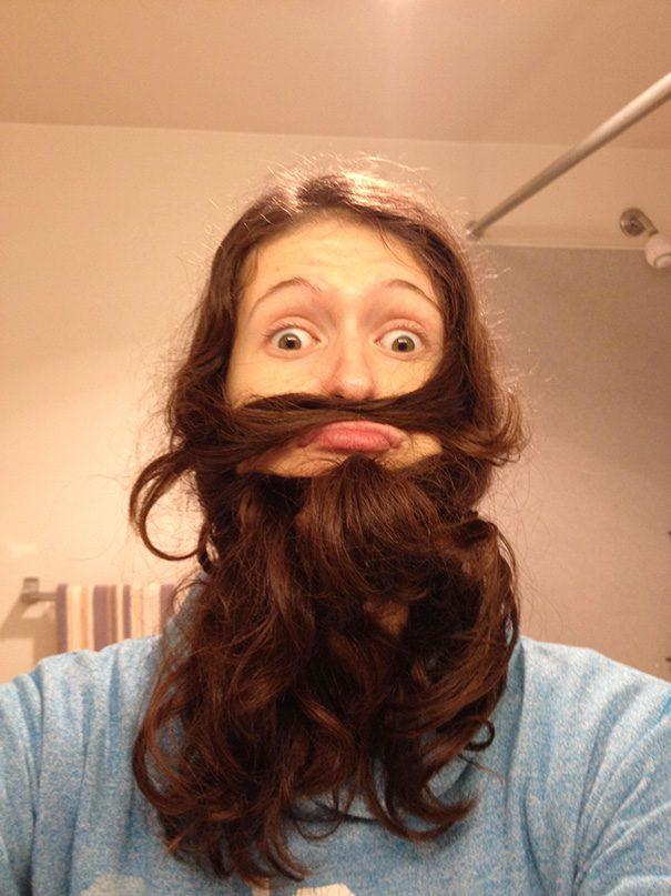women beards hair design 18