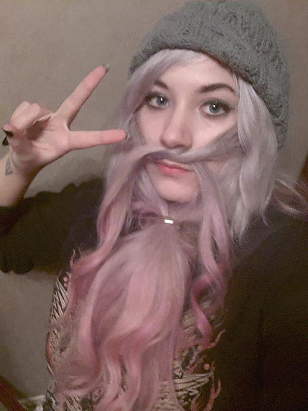 women beards hair design 19