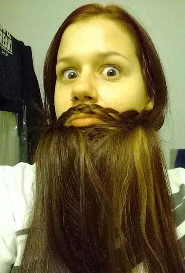 women beards hair design 23