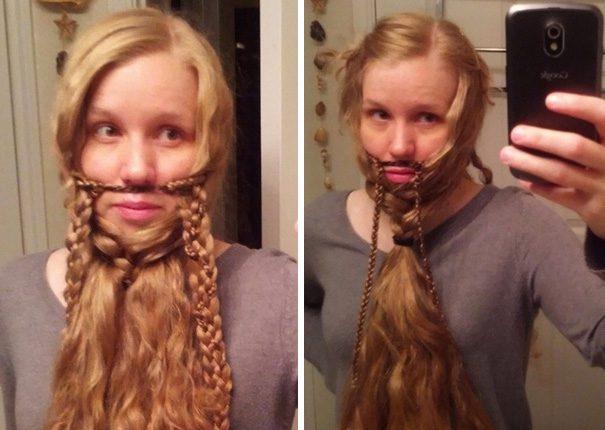 women beards hair design 26