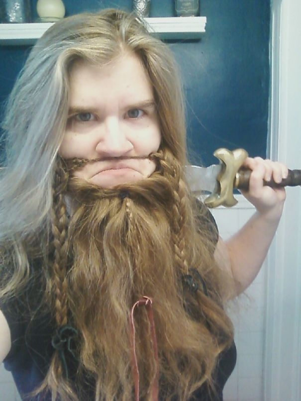women beards hair design 28