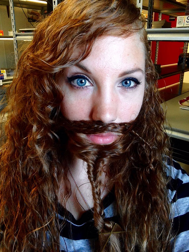 women beards hair design 32