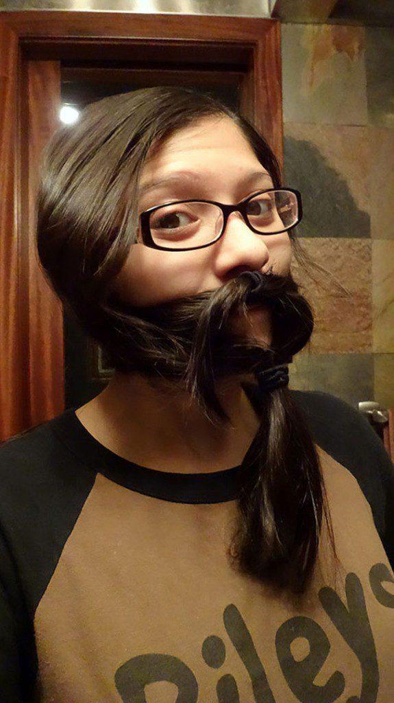 women beards hair design 33