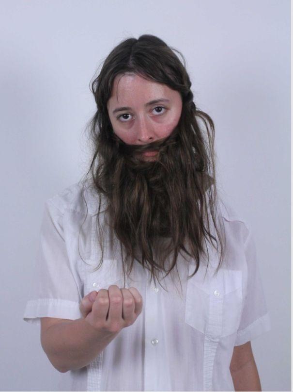 women beards hair design 34