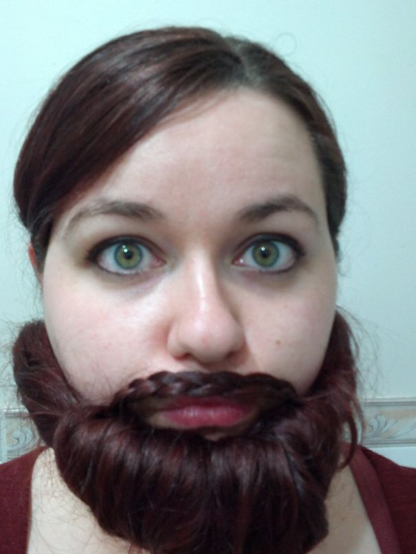 women beards hair design 36