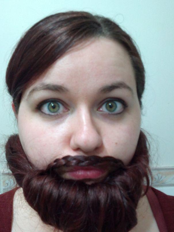 women beards hair design 36