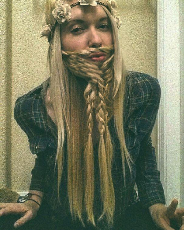 women beards hair design 39