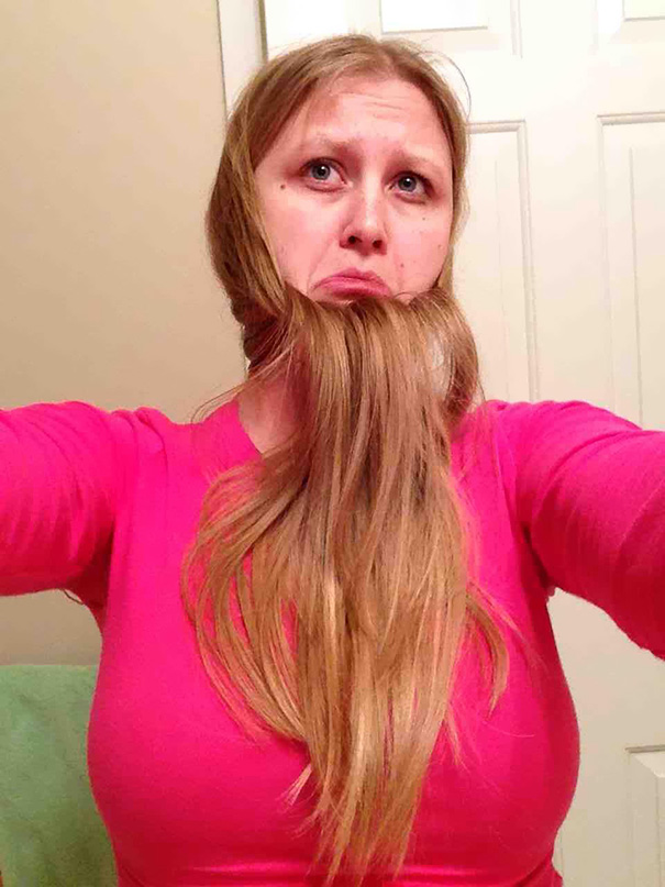 women beards hair design 41