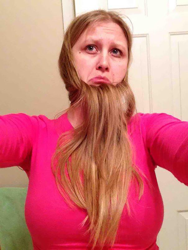 women beards hair design 41