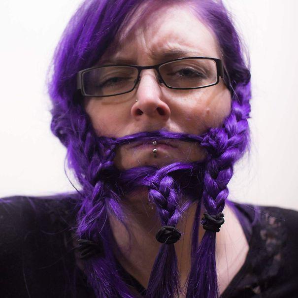 women beards hair design 45