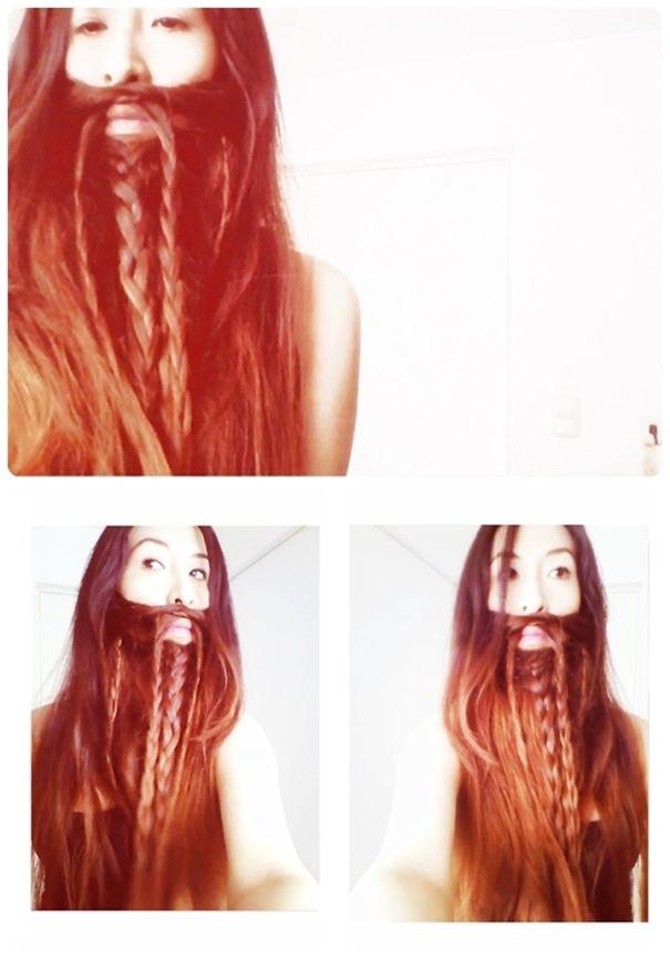 women beards hair design 46