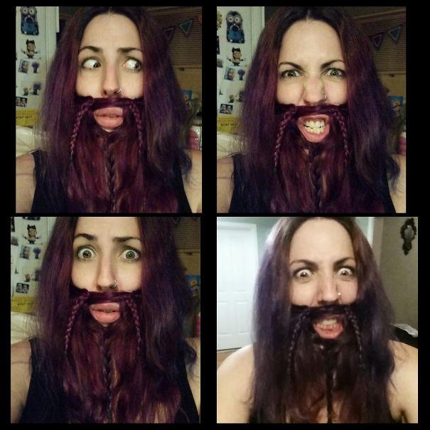 women beards hair design 47