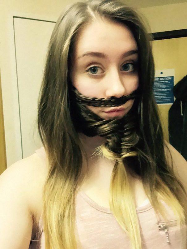 women beards hair design 48