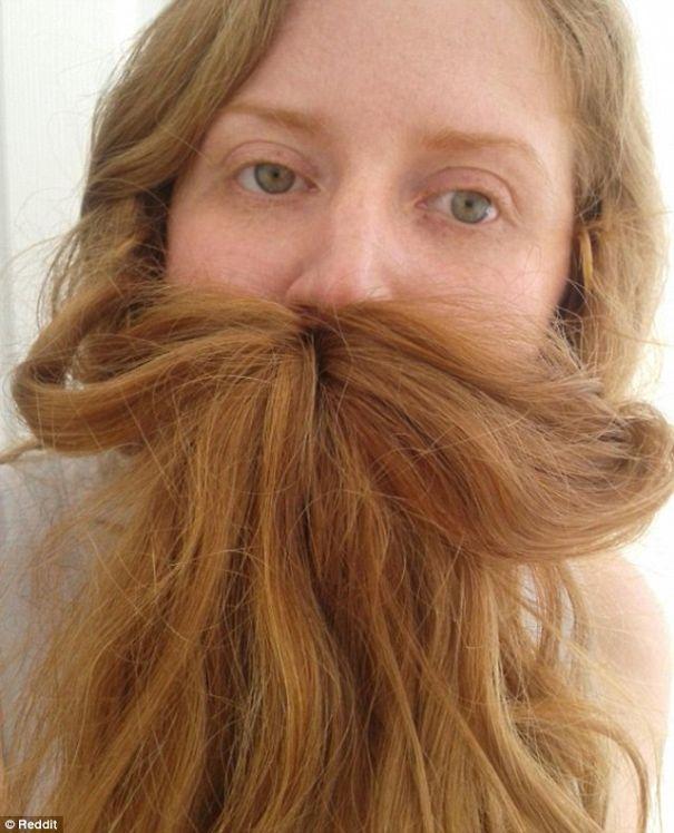 women beards hair design 50