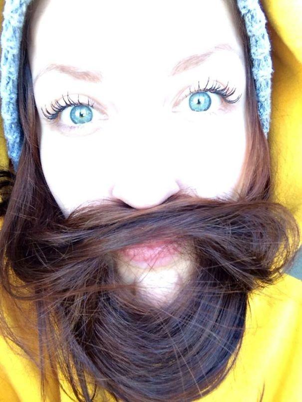 women beards hair design 51