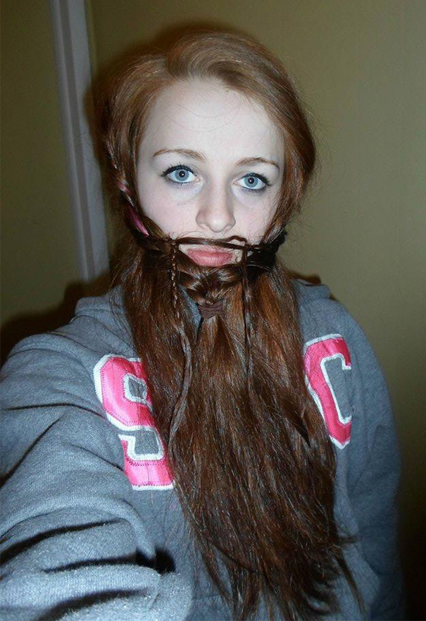 women beards hair design 53