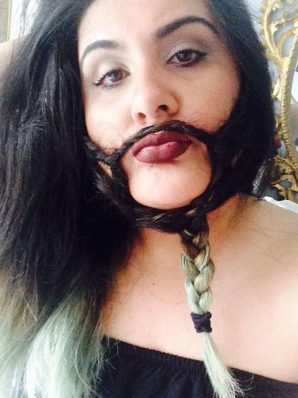 women beards hair design 55