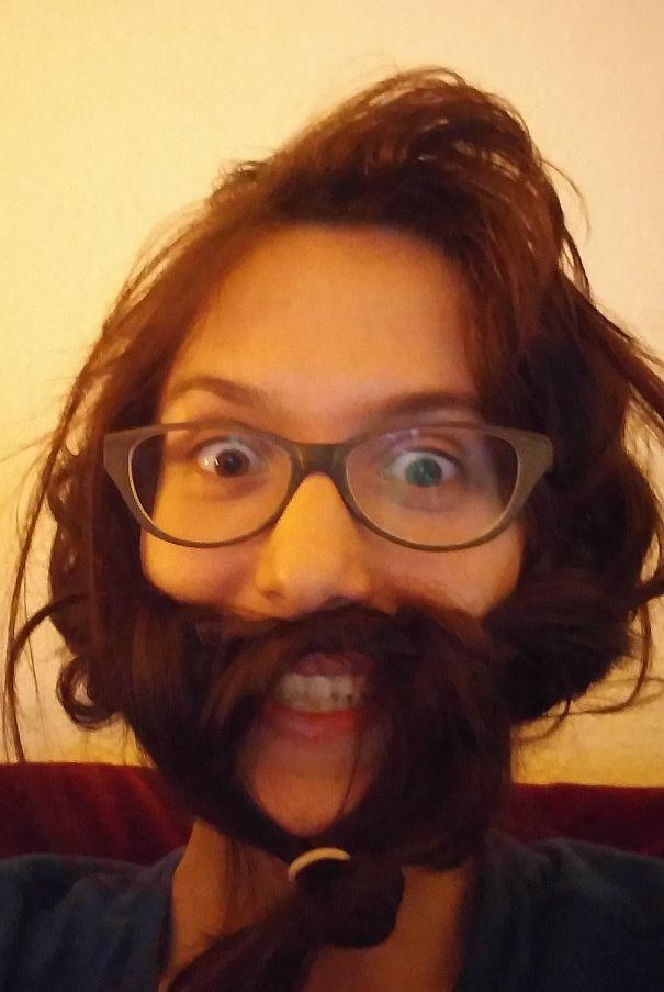 women beards hair design 59