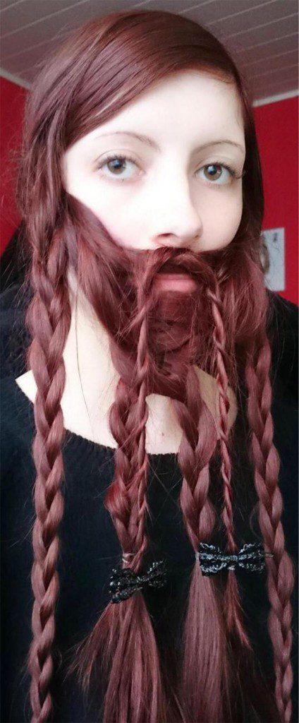 women beards hair design 6