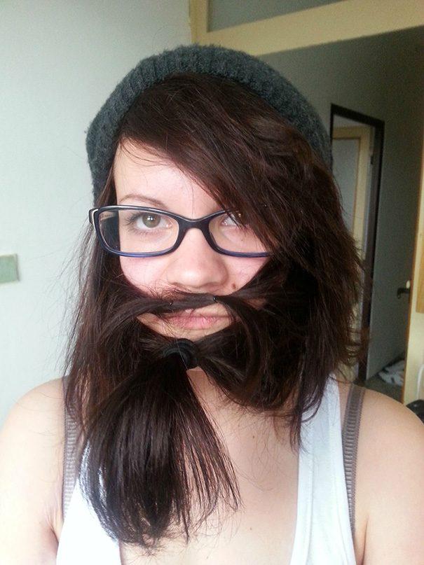 women beards hair design 62