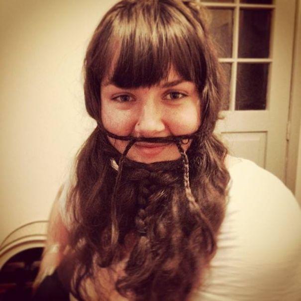 women beards hair design 63